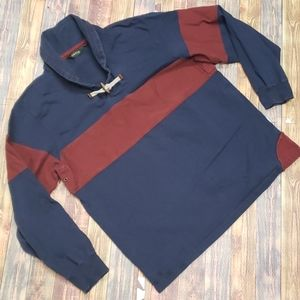 ORVIS MENS RUGBY COTTON PULLOVER SIZE LARGE